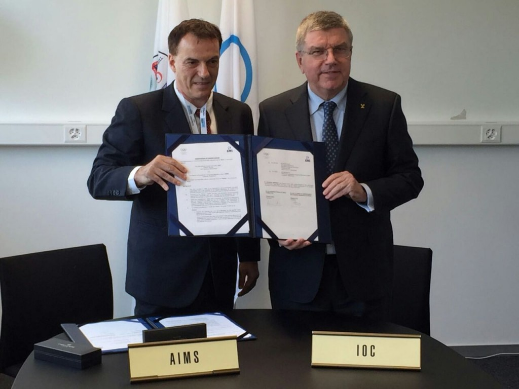 A historical MoU has been signed between the IOC and AIMS